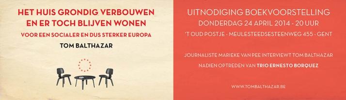 flyer boekvoorstelling 2014